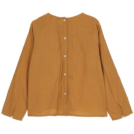KIDS Émile et Ida Embroidered Blouse - Curry