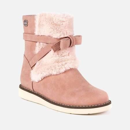 Kids Mayoral Faux Fur Boot - Pink