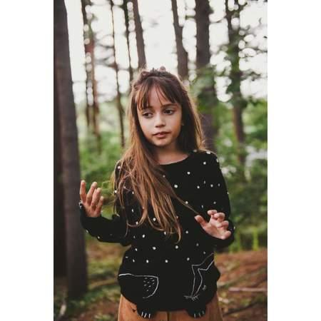 KIDS Émile et Ida Fox and Dots Sweater - BLACK