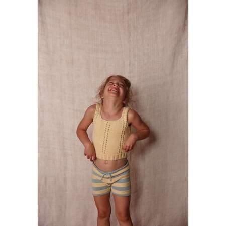 Kids Misha & Puff Girls Sea Urchin Tank - Buttercream