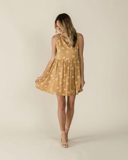 Rylee + Cru Hibiscus Layla Dress - Saffron