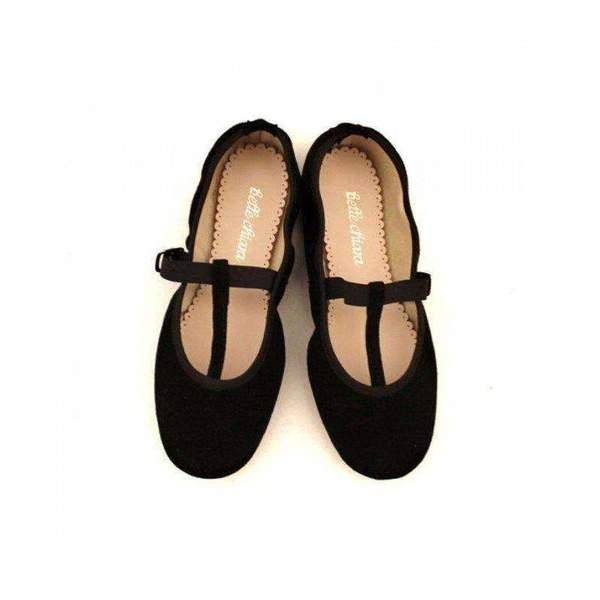 kids Belle Chiara Isadora Mary Jane - Black Suede