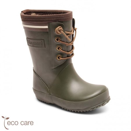 kids bisgaard Lace Thermo Rubber Boot - Green