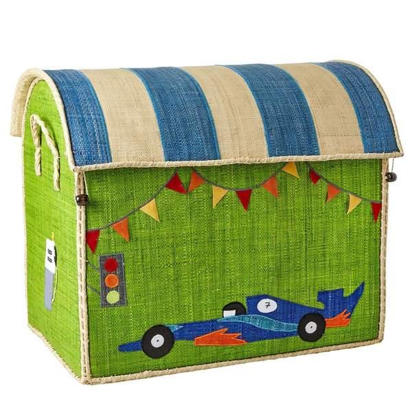 kids Rice Race Car Design Large Toy Basket