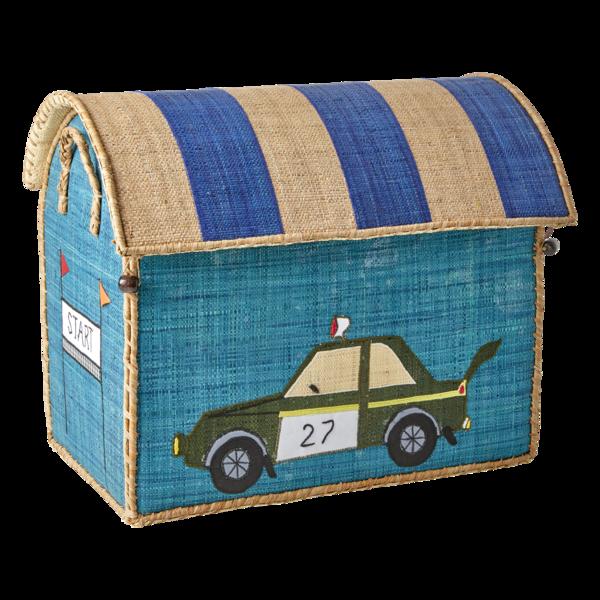 kids Rice Race Car Design Medium Toy Basket