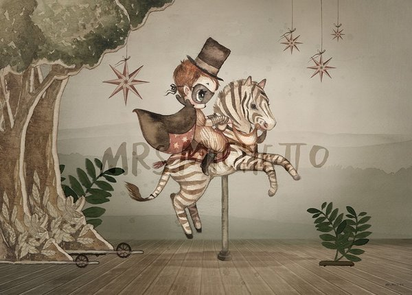 Kids Mrs. Mighetto Mr Frank Limited Edition Print