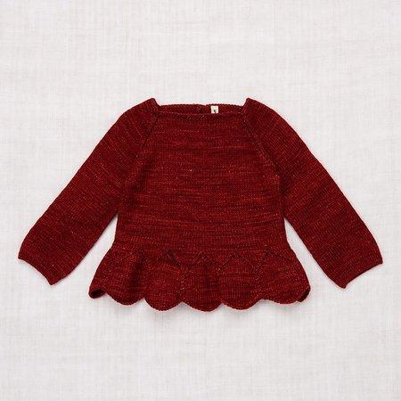Kids Misha & Puff Peplum Sweater - Brick