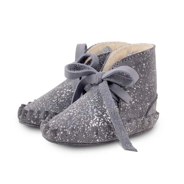 kids Donsje Pina Exclusive Lining - Grey Metalic Suede