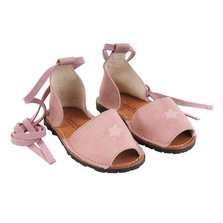 Kids Tocoto Vintage Leather Sandals - Pink