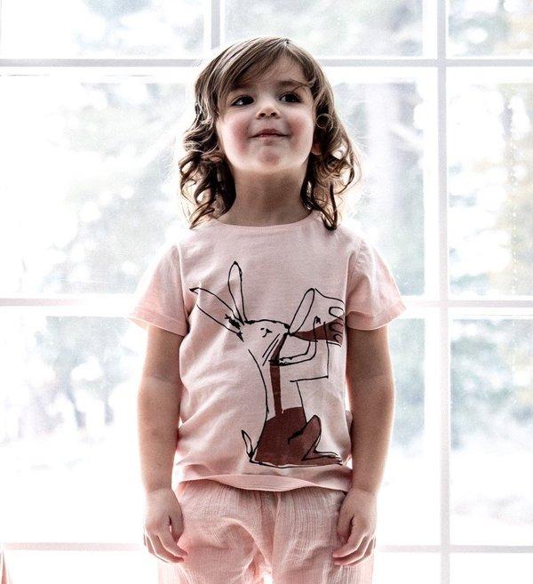 KIDS Émile et Ida Rabbit T-Shirt - Powder