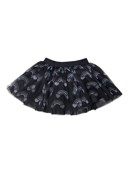 kids Huxbaby Rainbow Tulle Skirt - black