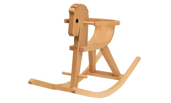 Kids Ostheimer Wooden Toys Rocking Horse Peter with Arm Rest