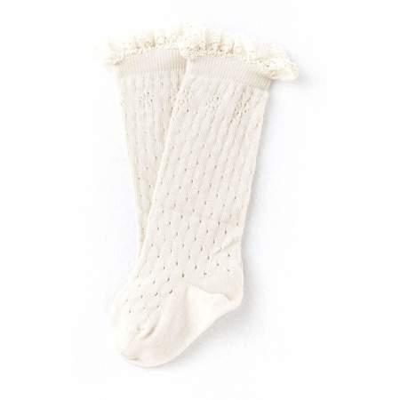 Kids Tocoto Vintage Ruffle Top Socks - Ecru