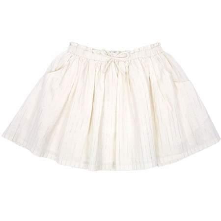 KIDS Émile et Ida Silver Striped Skirt - Ecru