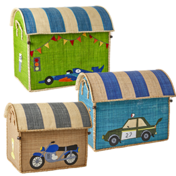 kids Rice Vintage Motorcycle Small Toy Basket