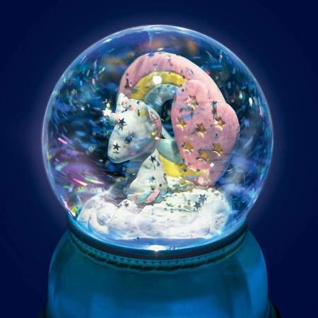 kids Djeco Unicorn Snow Globe Night Light