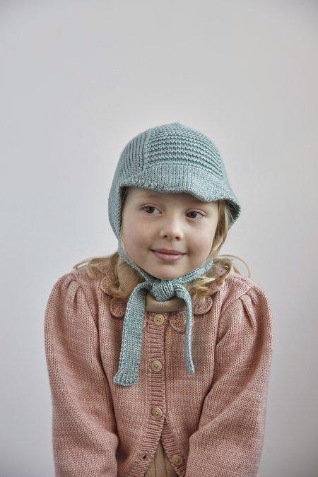 Kids Misha & Puff Visor Bonnet - Sage