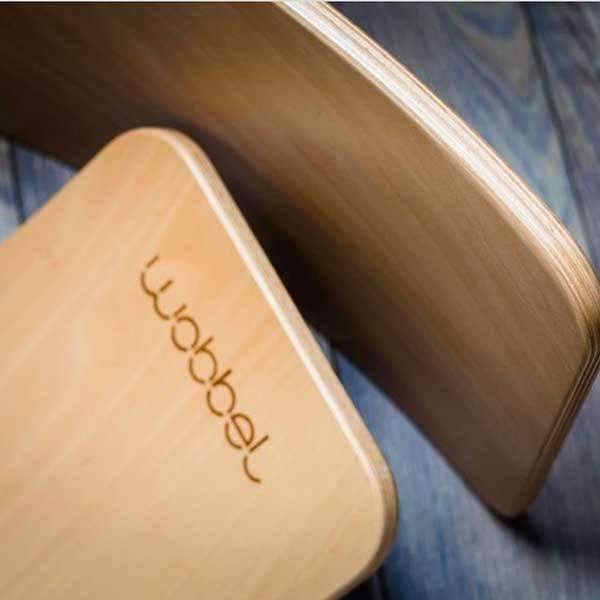 Wobbel Waldorf Balance Board Natural with Transparent Lacquer