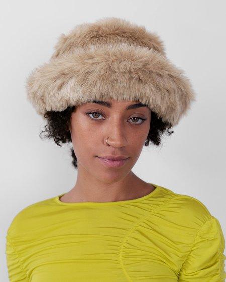 Clyde Fur Bucket Hat - New Ecru
