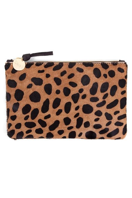 Clare V. Hair-On Wallet - Tan Leopard
