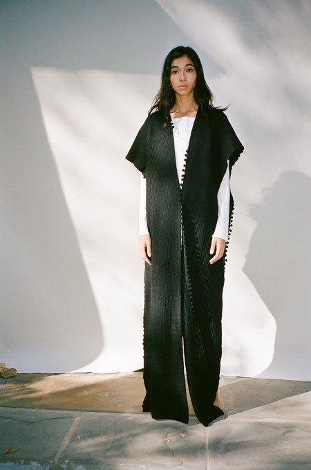 Bevza Shawl Sweater - Black