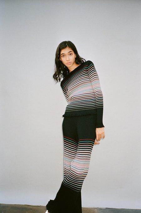 Julia Heuer Willow Pant - Black/Stripes