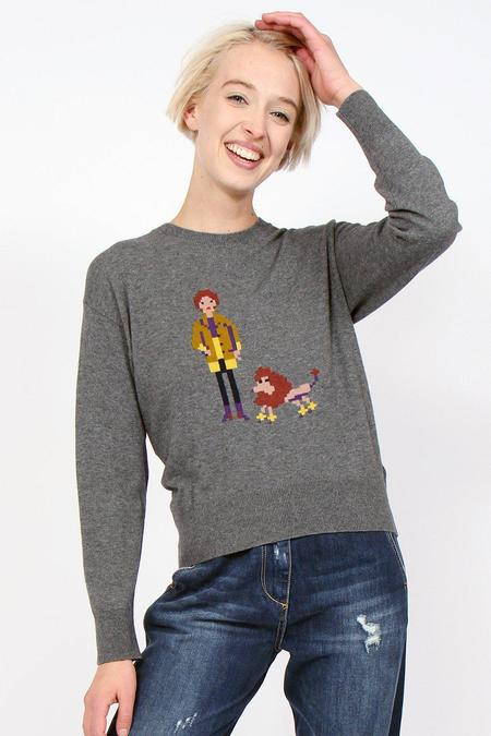 Nice Things Lady & Dog Sweater - Charcoal Grey