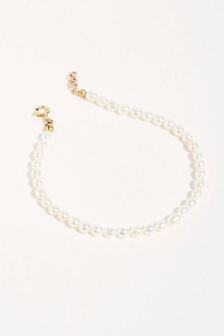 WOLF CIRCUS FRESHWATER PEARL ANKLET