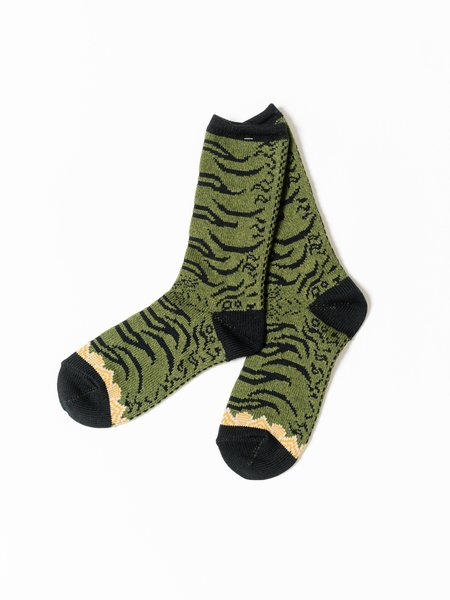 Kapital 84 Yarns Nepal Tiger Socks - Khaki
