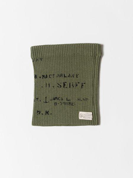 Kapital Wool Knit Military Rib Multi Roll - Khaki