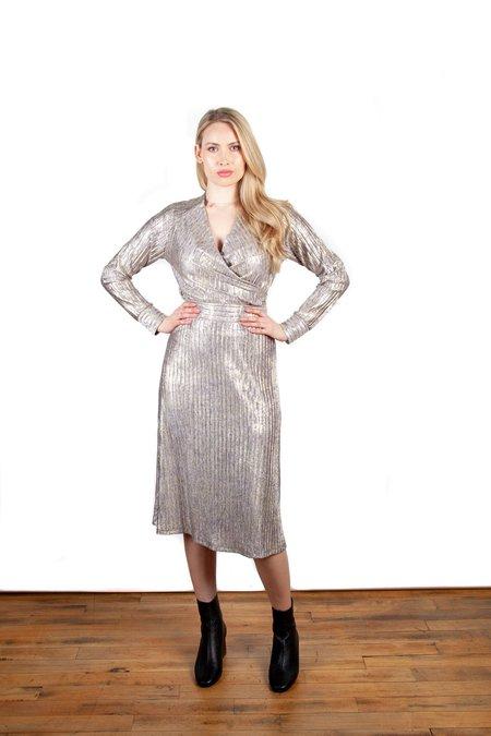 Allison Wonderland Tennille Top - Metallic