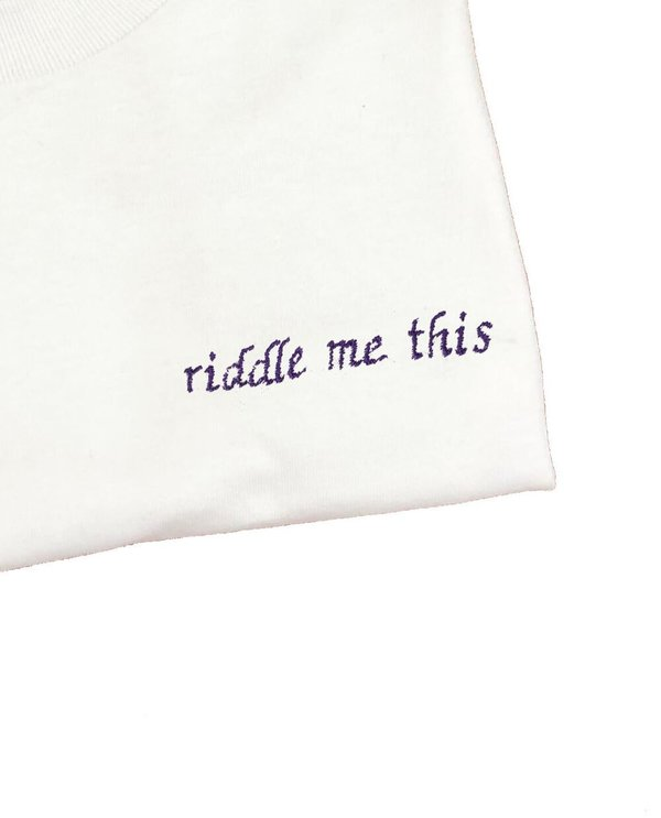 House of 950 riddle me this embroidery tee shirt