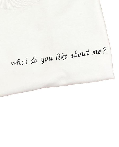 House of 950 embroidery what do you like about me? tee shirt