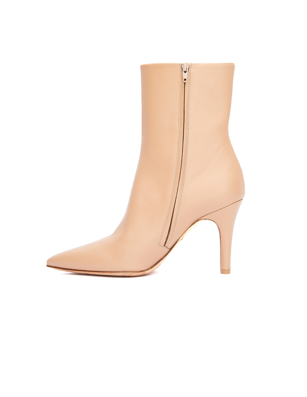 Maison Margiela Leather Ankle Boots - Beige