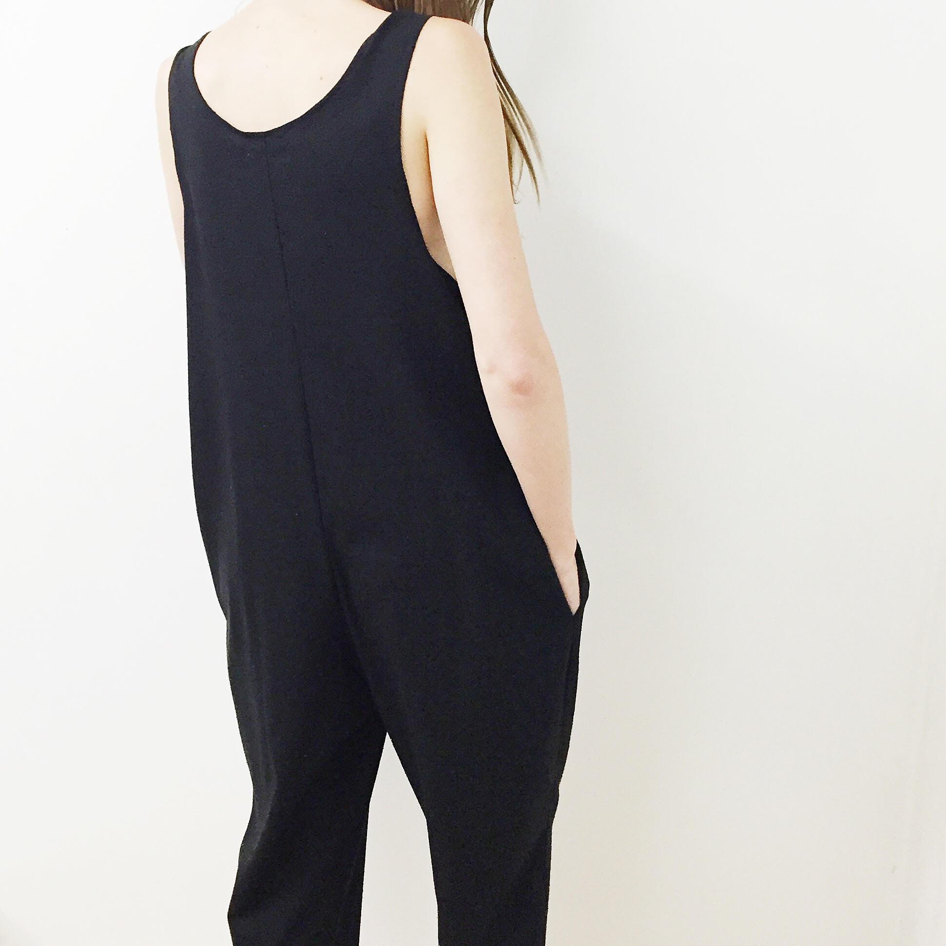 fee53932f97 Laurs Kemp Raw Silk Ulli Jumpsuit - Black | Garmentory