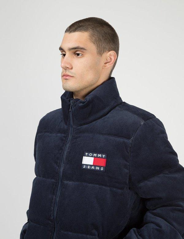 Tommy Jeans Corduroy Puffa Jacket - Black Iris