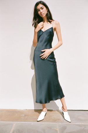 Pari Desai Midnight Sandoval Slip Dress - Midnight Navy