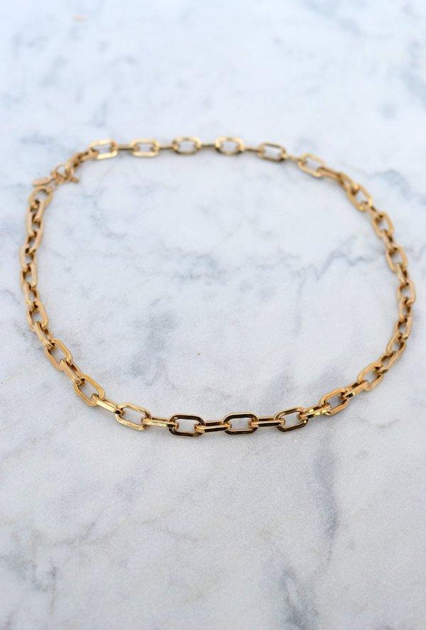 Phyllis + Rosie Large Link Necklace - 14k Gold Vermeil