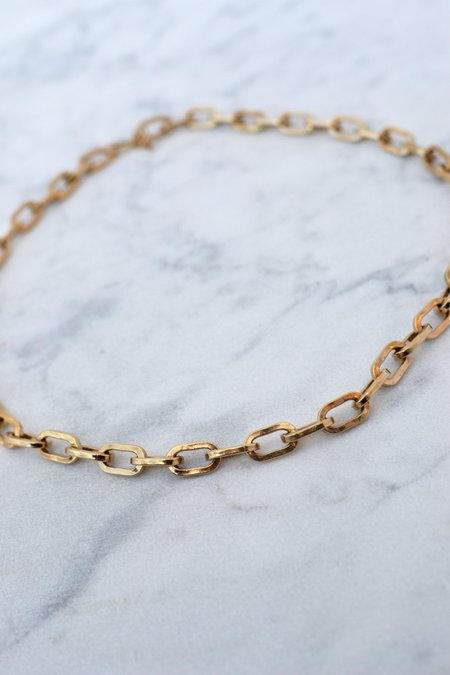 Phyllis + Rosie Large Link Necklace - 14k Gold Vermeil
