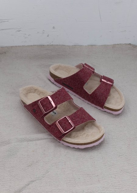 Birkenstock Arizona Wool Felt Sandal - Doubleface Port