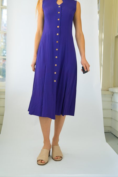 Vintage Peep Hole Dress - Electric Purple