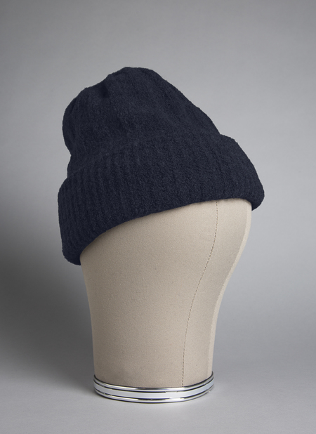 GREI. MOUSSE DOUBLE-SIDED BEANIE - MIDNIGHT BLUE