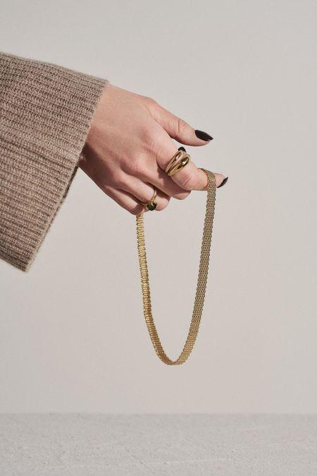 Young Frankk Quinn Mesh Collar - Gold