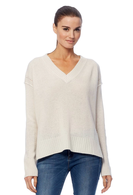 360 Cashmere Daria Sweater - Chalk