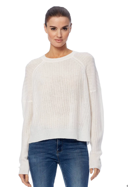360 Cashmere Kristen Sweater - Chalk