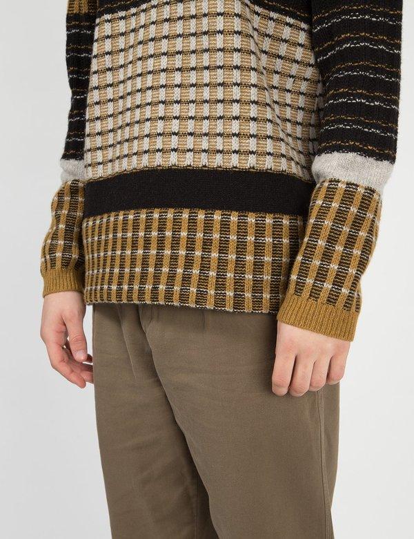 Folk Clothing Fraction Jumper - Dark Fawn/Multi