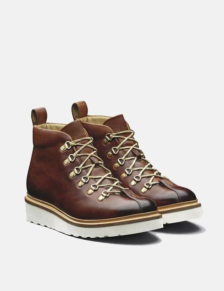 Grenson Bobby Hiker Leather Boots - Tan