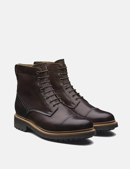 Grenson Joseph Leather Boots - Dark Brown
