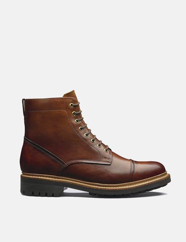 Grenson Joseph Leather Boots - Tan