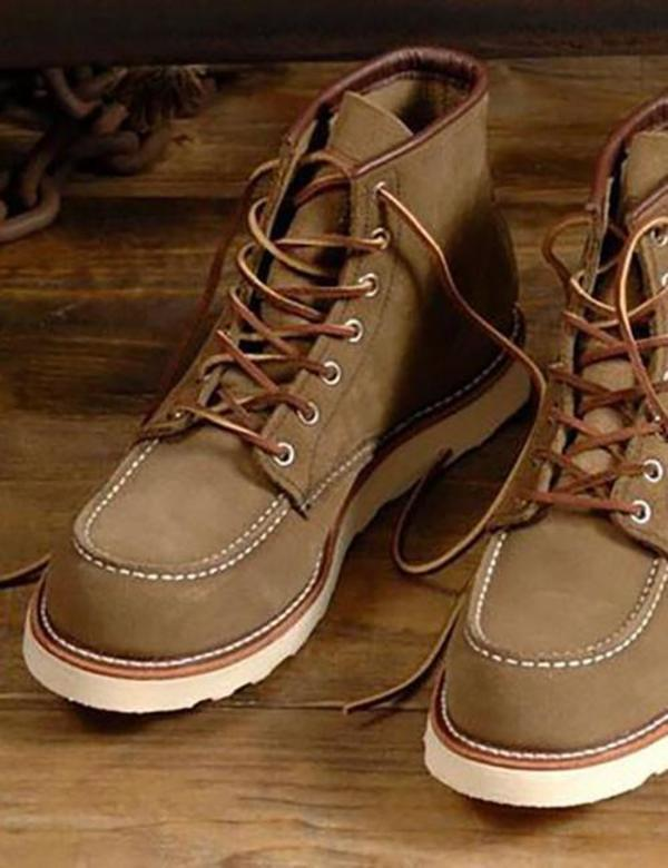 "Red Wing ShoesHeritage 6"" Moc Toe Work Boots - Olive Green Mohave"